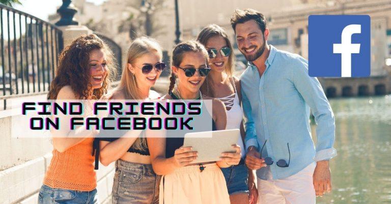 Find friends on facebook