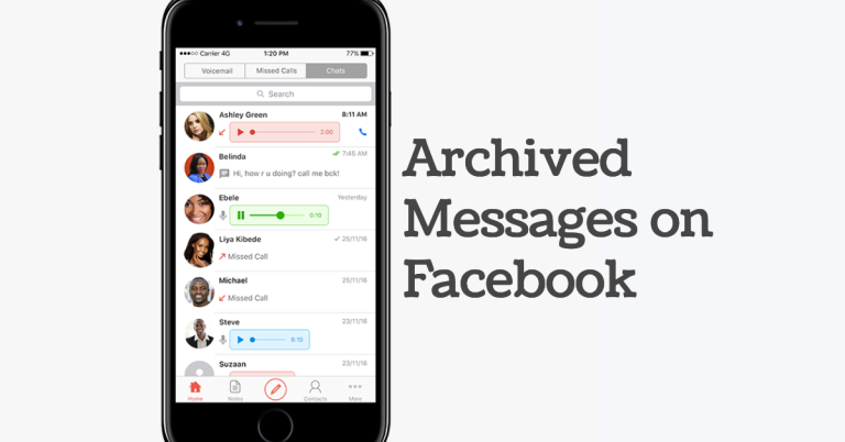 archived messages facebook
